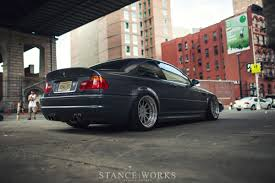 bmw stanced under the lights of nyc eric penelow u0027s bmw e46 m3 stanceworks