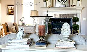 common ground styling a sofa table