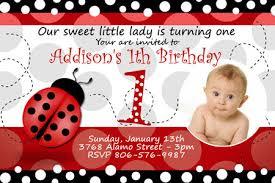 lady bug birthday invitation party photo printable custom