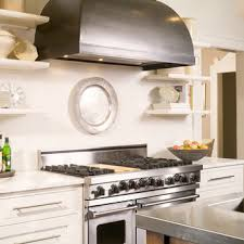 Kitchen Hood Designs Ideas by Shelves Flanking Kitchen Hood Design Ideas