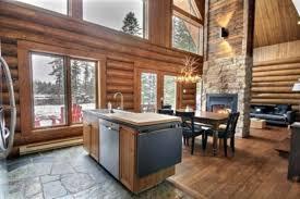 cuisine chalet bois abénaki au chalet en bois rond chalets appartements résidences