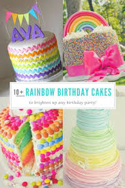 A Birthday Cake Best 25 Rainbow Birthday Cakes Ideas On Pinterest Rainbow Cakes