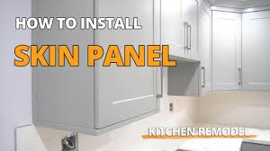 how to cut cabinets panels how to install skin panels on kitchen cabinets