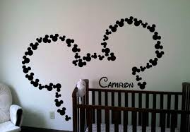 get personalized wall decal with mickey mouse mickey mouse ears personalised wall art decal sticker