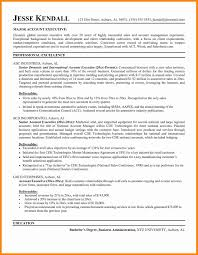 good resume for accounts executive responsibilities for marketing sle executive resume unique account executive sle resume