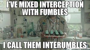 Romo Interception Meme - i ve mixed interception with fumbles i call them interumbles meme