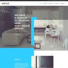 architect website design architecture website themes with parallax scrolling effect