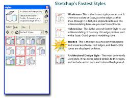 Architectural Design Styles Sketchup Styles For Performance Sketchup Tips U0026 Tricks