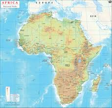 Cameroon Africa Map by Africa National Park Map 4500x4300 Mapporn