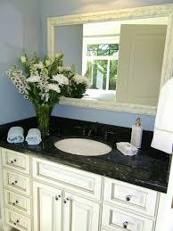 Black And Emerald Pearl Granite White Cabinets Wedgewood Blue - Black granite with white cabinets in bathroom