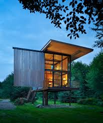 rugged steel cabin in washington state