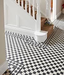 victorian black white chequer tile topps tiles