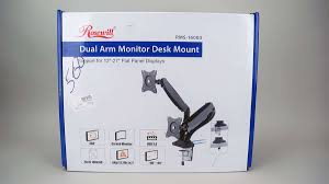 rosewill dual monitor desk mount rosewill rms 16003 dual monitor desk mount review computer