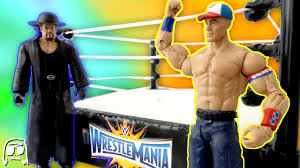 wwe wrestlemania 33 john cena vs undertaker toys r us exclusive