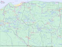 Michigan Adventure Map by Grand Marais Michigan Map Michigan Map