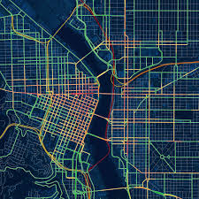 Map Portland Oregon by Drunk Traffic Map Of Portland Duis Doug Mccune