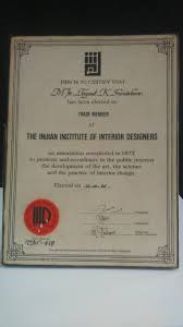 Certificate Of Interior Design by About Us