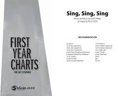 sing sing sing with a swing louis prima sing sing sing by louis prima arr paul cook j w pepper sheet
