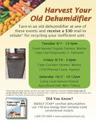 dehumidifier turn in opportunities cape light compact