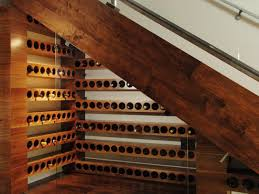 wine storage under stairs basement remodel great use of space
