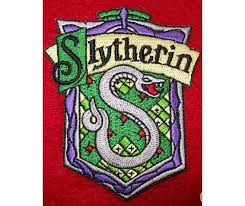 slytherin harry potter iron on embroidered patch patches 3 0 x 2 5