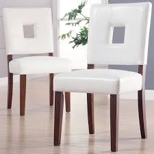 White Leather Dining Room Chairs Simple Home Design Ideas - White leather dining room set