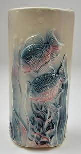 Koi Fish Vase Royal Copley Ceramic Koi Fish Pattern Vase 7 125