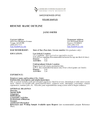Wcf Resume Sample by Basic Resume Outline 22 Simple Sample Of Resume And Free Templates