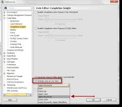 formatting keywords to uppercase in oracle sql developer