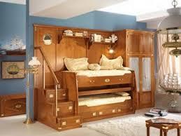 bedroom furniture beige hardwood kid bed frame with bed guard