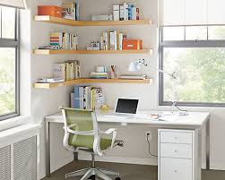 Corner Bookcase Designs Home Organization Space Saving Home Office Design With Wall