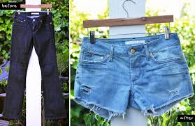 Distressing Diy by Mr Kate Diy Style Perfectly Distressed Jean Shorts