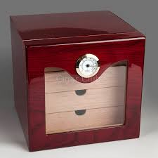 small cabinet with drawers free shipping square red color small custom wood cigar humidor