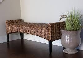 amazon com birdrock home seagrass bench kitchen u0026 dining