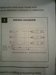 electrical wiring bathroom exhaust fan with heater home
