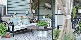 Patio Ideas For Backyard On A Budget by Liz Marie Blog Patio Before And After Patio Decorating Ideas