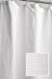 Cotton Waffle Shower Curtain Cotton Waffle Weave Shower Curtain Curtain Gallery