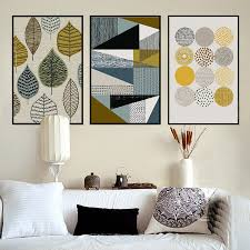 abstract geometric canvas paintings nordic scandinavian posters