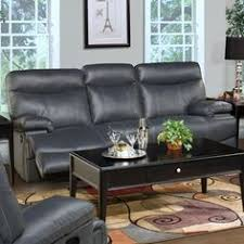 Grey Leather Reclining Sofa by Galaxy Gray Top Grain Leather Lay Flat Reclining Sofa Loveseat