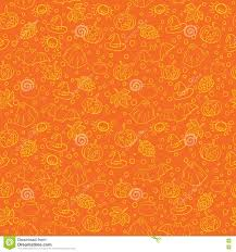 free halloween orange background pumpkin halloween seamless pattern with spiders witch cauldron bat