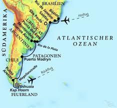 Rio On World Map Von Rio De Janeiro Nach Ushuaia Kreuzfahrt Mit Amadea