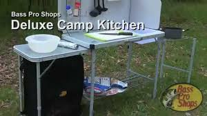 Outdoor Camping Sink Station by Bass Pro Shops Deluxe Camp Kitchen Youtube