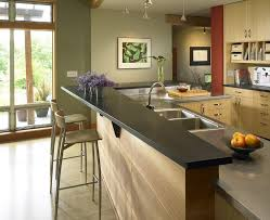 Kitchens With Stainless Steel Countertops Breakfast Bar Wall Kitchen Contemporary With Breakfast Bar