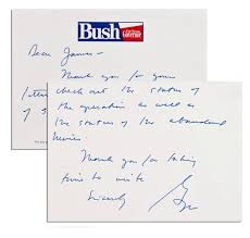 lot detail george w bush autograph letter signed while