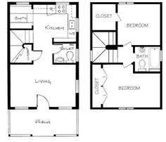 Tiny Houses Floor Plans 560 Ft 20 X 28 House Plan Small Home Plans Pinterest