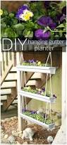 Diy Hanging Planter by Diy Hanging Gutter Planter House By Hoff