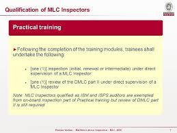 bureau veritas reviews maritime labour convention mlc ppt