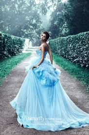 blue wedding dresses vestido de noiva blue princess wedding dresses 2016 ruffles