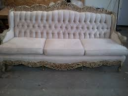 simple tufted leather sofa with chaise 4889
