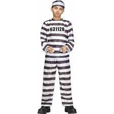 convict halloween costumes amazon com kids jailbird inmate convict small halloween costume 4